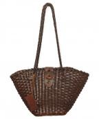 CI-VA(チーバ)の古着「レザー編み込みバッグ」|ブラウン