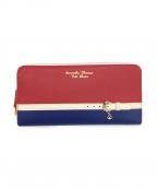 Samantha Thavasa PETIT CHOICE(サマンサタバサプチチョイス)の古着「長財布」|レッド×ブルー