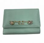 Samantha Thavasa PETIT CHOICE(サマンサタバサプチチョイス)の古着「2つ折り財布」|ミント