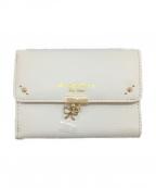 Samantha Thavasa PETIT CHOICE(サマンサタバサプチチョイス)の古着「2つ折り財布」|ホワイト