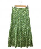 IENA(イエナ)の古着「スリットフレアスカート」|グリーン