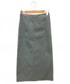 SHIPS(シップス)の古着「ハイオストレッチタイトスカート」 グリーン