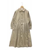 ()の古着「ライナー付綿麻ツイルタックコート」|ベージュ