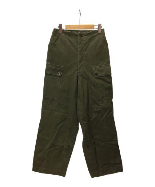 -(-)- (-) 【古着】ヴィンテージオーバーパンツ オリーブ サイズ:SIZE 78の古着・服飾アイテム