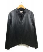 nano・universe(ナノユニバース)の古着「シングルライダースジャケット」 ブラック