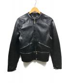 GOLDEN GOOSE(ゴールデングース)の古着「レザージャケット」|ブラック