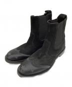 JIMMY CHOO(ジミーチュウ)の古着「サイドゴアブーツ」|ブラック