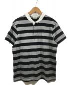 Saint Laurent Paris(サンローランパリ)の古着「ボーダーシャツ」|ブラック×グレー