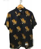 WACKO MARIA(ワコマリア)の古着「オープンカラーシャツ」 ブラック