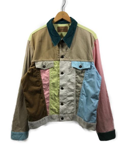 LEVIS(リーバイス)LEVIS (リーバイス) コーデュロイジャケット vintageb clothing ブラウン×グリーン×ピンク サイズ:XLの古着・服飾アイテム