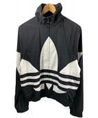 adidas originals(アディダスオリジナルス)の古着「ビッグ トレフォイル トラックジャケット」 ブラック×ホワイト