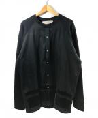 Casely-Hayford(ケイスリーヘイフォード)の古着「ラグランスウェットシャツ」|ブラック