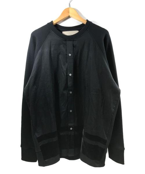 Casely-Hayford(ケイスリー ヘイフォード)Casely-Hayford (ケイスリー ヘイフォード) ラグランスウェットシャツ ブラック サイズ:Mの古着・服飾アイテム