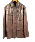 Ferragamo(フェラガモ)の古着「レザージャケット」 ブラウン