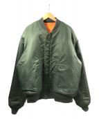 UNUSED×BUZZ RICKSON'S×BEAMS(アンユーズド×バズリクソンズ×ビームス)の古着「MA-1ジャケット」|グリーン×オレンジ