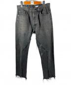 OLD PARK(オールドパーク)の古着「リメイクカットオフデニム」|ブラック