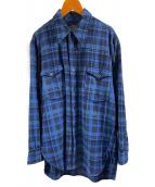()の古着「ヴィンテージネルシャツ」 ブルー