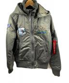 ()の古着「フーデットフライトジャケット」|オリーブ