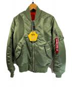 ALPHA(アルファ)の古着「MA-1ジャケット」|グリーン