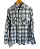 ()の古着「50sチェックシャツ」 グレー