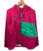 NIKE ACG(ナイキエィシージー)の古着「2.5L PCK ジャケット」 ピンク×グリーン