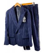 yoshio kubo(ヨシオクボ)の古着「コーデュロイセットアップ」 ネイビー
