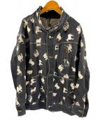 FRAPBOIS(フラボア)の古着「シルクロードJQスタンドカラージャケット」|ブラック