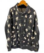 FRAPBOIS(フラボア)の古着「シルクロードJQスタンドカラージャケット」 ブラック