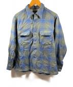 ()の古着「ネルシャツ」|グレー×ブルー