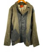 ()の古着「ウールジャケット」|グリーン×ネイビー
