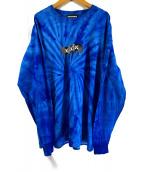 GOD SELECTION XXX(ゴットセレクショントリプルエックス)の古着「Box ロゴ Long Sleeve T-shirt」|ブルー(タイダイ)