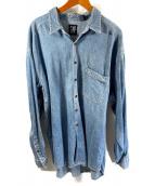()の古着「90sデニムシャツ」 ブルー