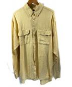 ()の古着「90sリネンシャツ」 イエロー
