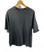MHL(エムエイチエル)の古着「スリットクルーネックカットソー」|ブラック