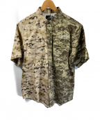 LEFLAH(レフラー)の古着「ボタニカルPT半袖シャツ」|ブラウン×グリーン
