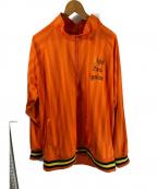 LEFLAH(レフラー)の古着「サイドテープトラックジャケット」|オレンジ