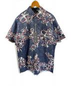 ()の古着「アロハシャツ」|ネイビー×ホワイト