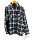 ()の古着「チェックシャツ」|ネイビー×ホワイト