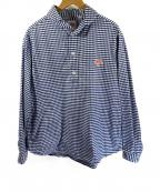 DANTON(ダントン)の古着「丸襟プルオーバーシャツ」|ブルー