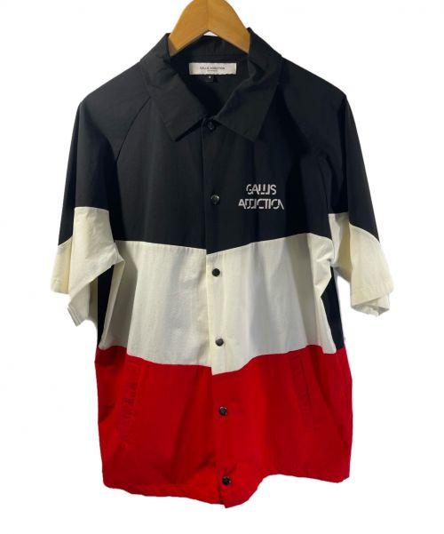 GALLIS ADDICTION(ガリスアディクション)GALLIS ADDICTION (ガリスアディクション) ビックシルエットナイロンシャツ ホワイト×レッド×ブラック サイズ:4の古着・服飾アイテム