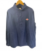 DANTON(ダントン)の古着「丸襟ビエラ起毛プルオーバーシャツ」|ネイビー