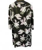 marimekko(マリメッコ)の古着「コットン総柄ワンピース」|ブラウン×ピンク