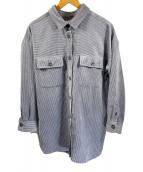 ()の古着「コーデュロイシャツ」 グレー