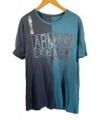 ()の古着「Tシャツ」 ブラック×グリーン