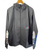 adidas(アディダス)の古着「アディカラー トリコロール ウインドブレーカー」|ブラック