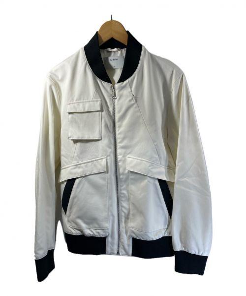 lot holon(ロット ホロン)lot holon (ロット ホロン) ジップアップジャケット ホワイト×ネイビー サイズ:46 無地の古着・服飾アイテム