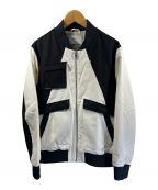 lot holon()の古着「ジップアップジャケット」 ブラック×ホワイト