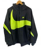 NIKE(ナイキ)の古着「フリースジャケット」|ブラック×イエロー