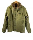 HOUSTON()の古着「デッキジャケット」|グリーン×ブラウン