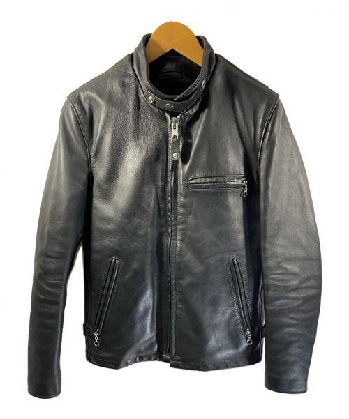Schott(ショット)Schott (ショット) レザージャケット ブラック サイズ:34 牛革の古着・服飾アイテム